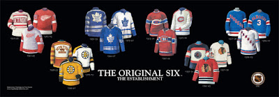The Original Six jerseys NHL poster