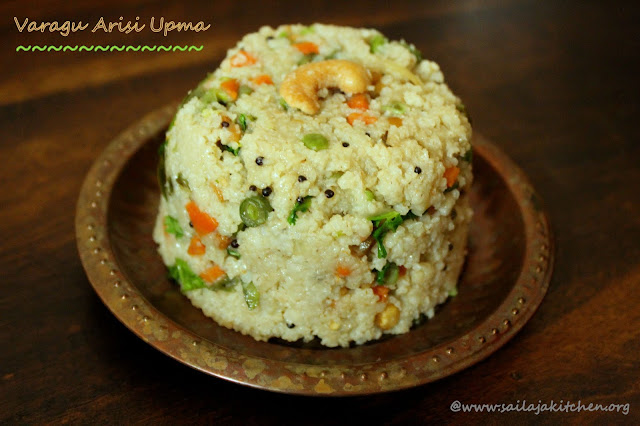 images of Varagu Upma / Kodo Millet Upma Recipe  /  Varagu Arisi Upma Recipe / Varagu Vegetable Upma - Millet Recipes