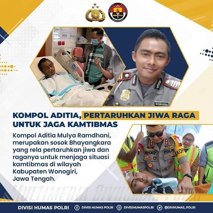 Kompol Aditia, Pertaruhkan Jiwa Raga Untuk Menjaga Kamtibmas