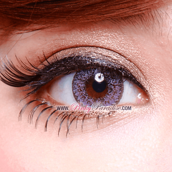 Geo Nudy Violet Circle Lenses (Colored Contacts) Closeup