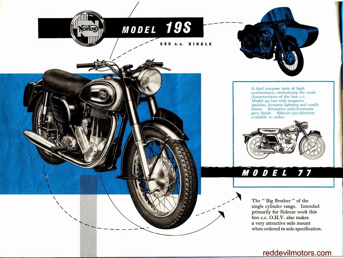 Red Devil Motors: 1958 Norton full range brochure