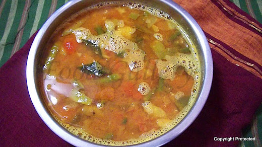 Sambar for idli dosa, tiffin sambar
