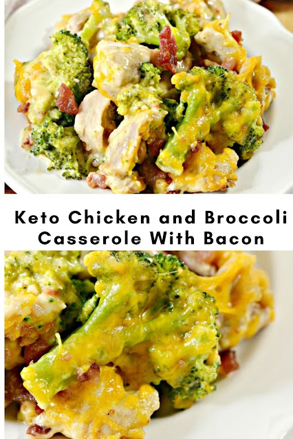 Keto Chicken and Broccoli Casserole With Bacon