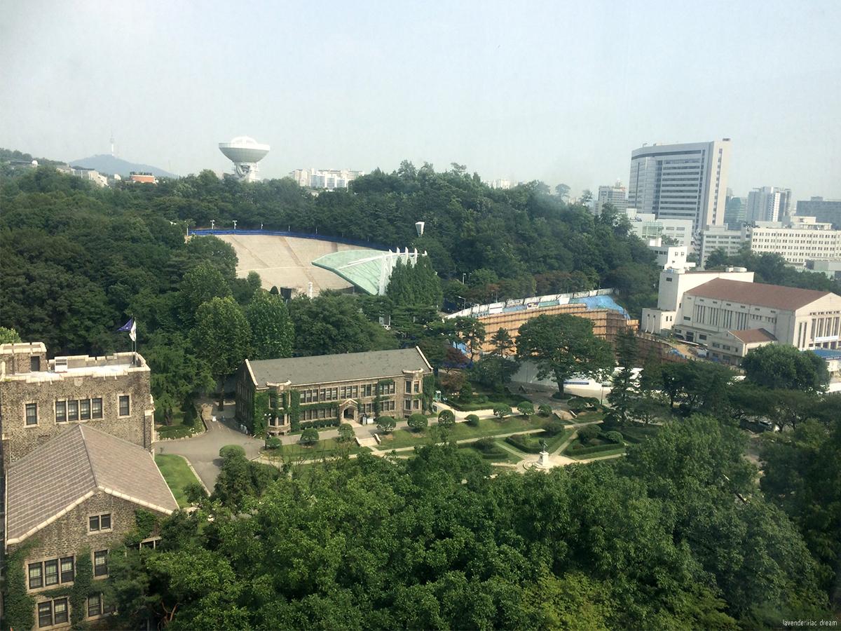 South Korea, Seoul, Sinchon, YISS 2014, Yonsei University, EDU Building view