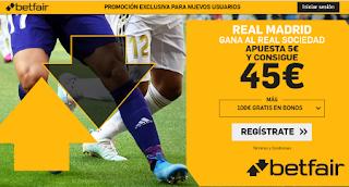 betfair supercuota liga Real Madrid gana Real Sociedad 23 noviembre 2019