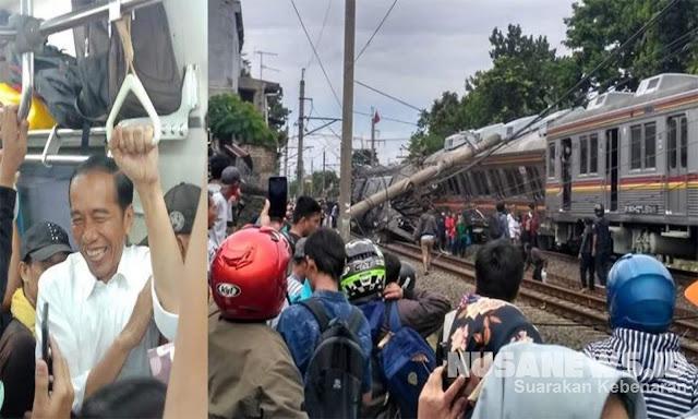 Empat Hari Setelah Jokowi Naik KRL, Dua Gerbong Keluar Rel dan Terguling di Bogor