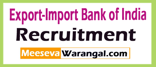 Export-Import Bank of India Exim Bank Recruitment