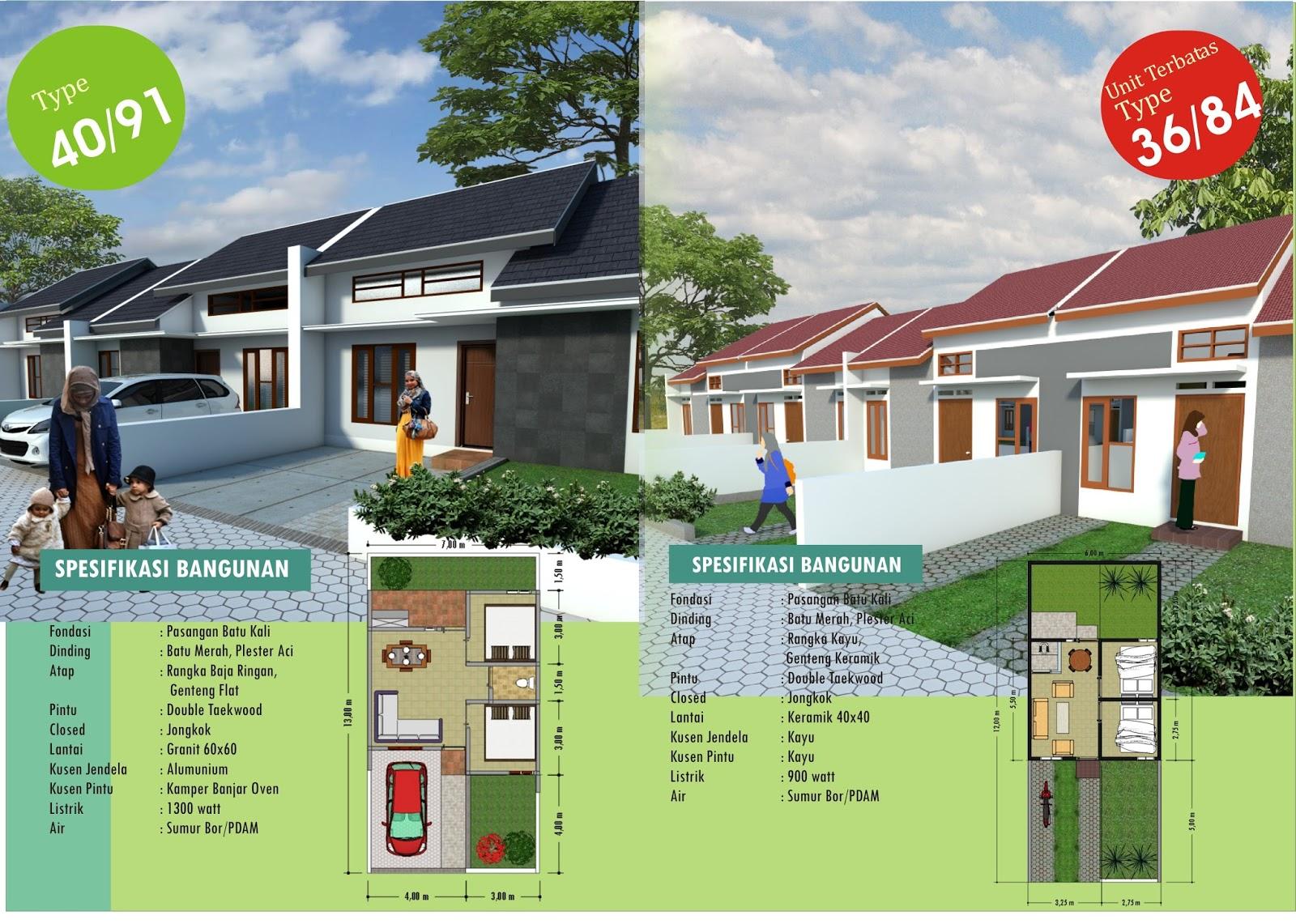 Desain rumah tipe 40  082227972211