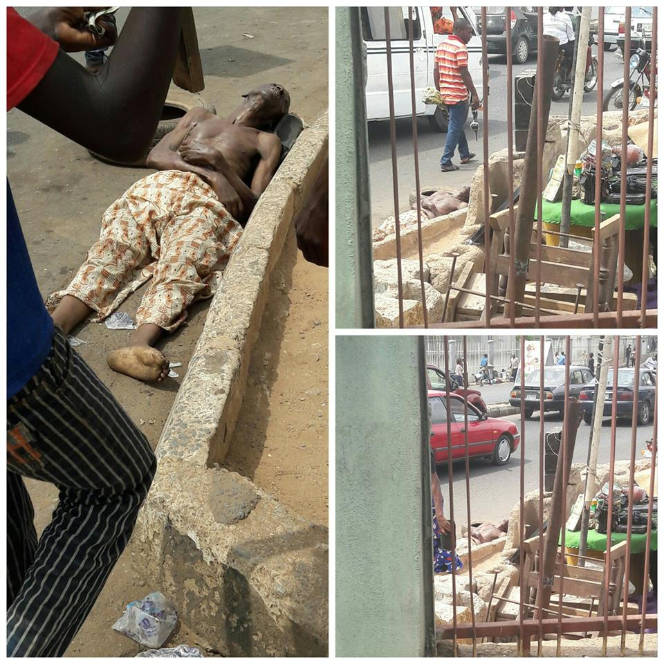 24 Hours Later Body Of An Accident Victim Still Lies At Same Spot In Ibadan