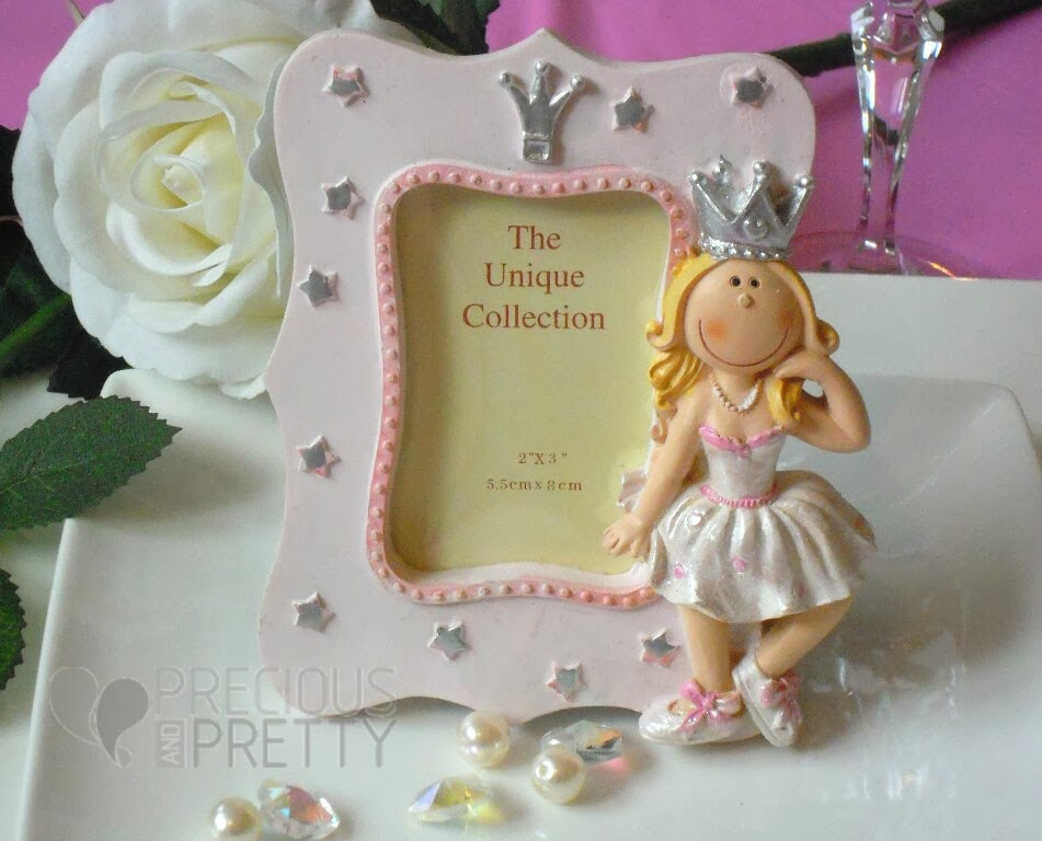Christening favors princess photo frame B018