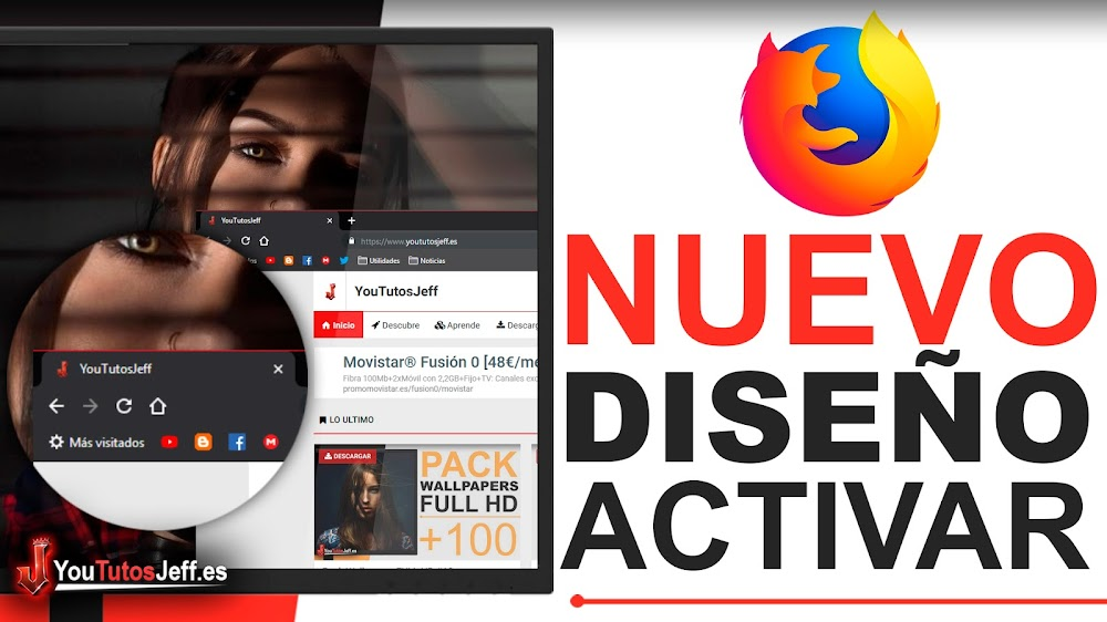 Activar Nuevo Diseño Material Desing Firefox - Trucos Firefox