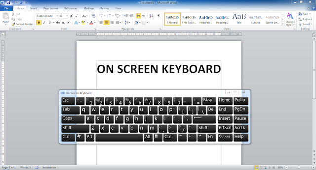 Cara Menampilkan Keyboard di Laptop (Windows 7, 8, 10)