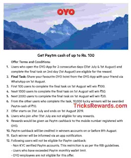 Oyo app offer