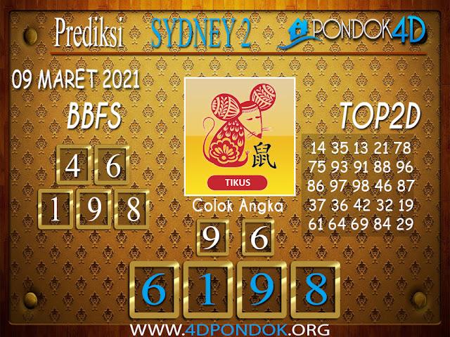 Prediksi Togel SYDNEY2 PONDOK4D 09 MARET 2021