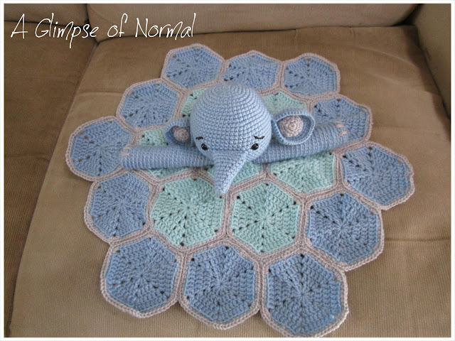 This sweet elephant lovey is a great gift for baby showers.  See more on my blog, A Glimpse of Normal.