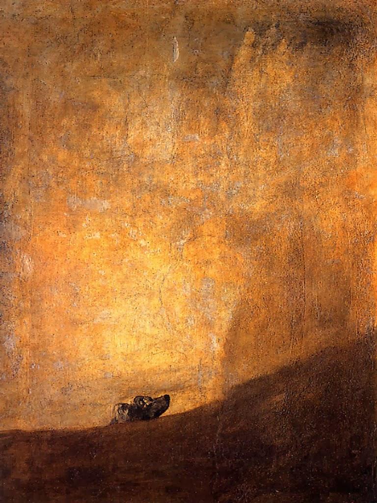 5d2ddd030a Perro semihundido o, más simplemente, El perro, es una de las Pintura  negras que formaron parte de la decoración de los muros de la casa, llamada  la Guinta ...