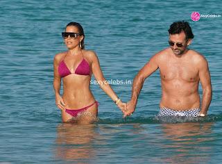 Sylvie Meis  body huge    in tiny bikini WOW Beach Side  Pics Celebs.in Exclusive 013