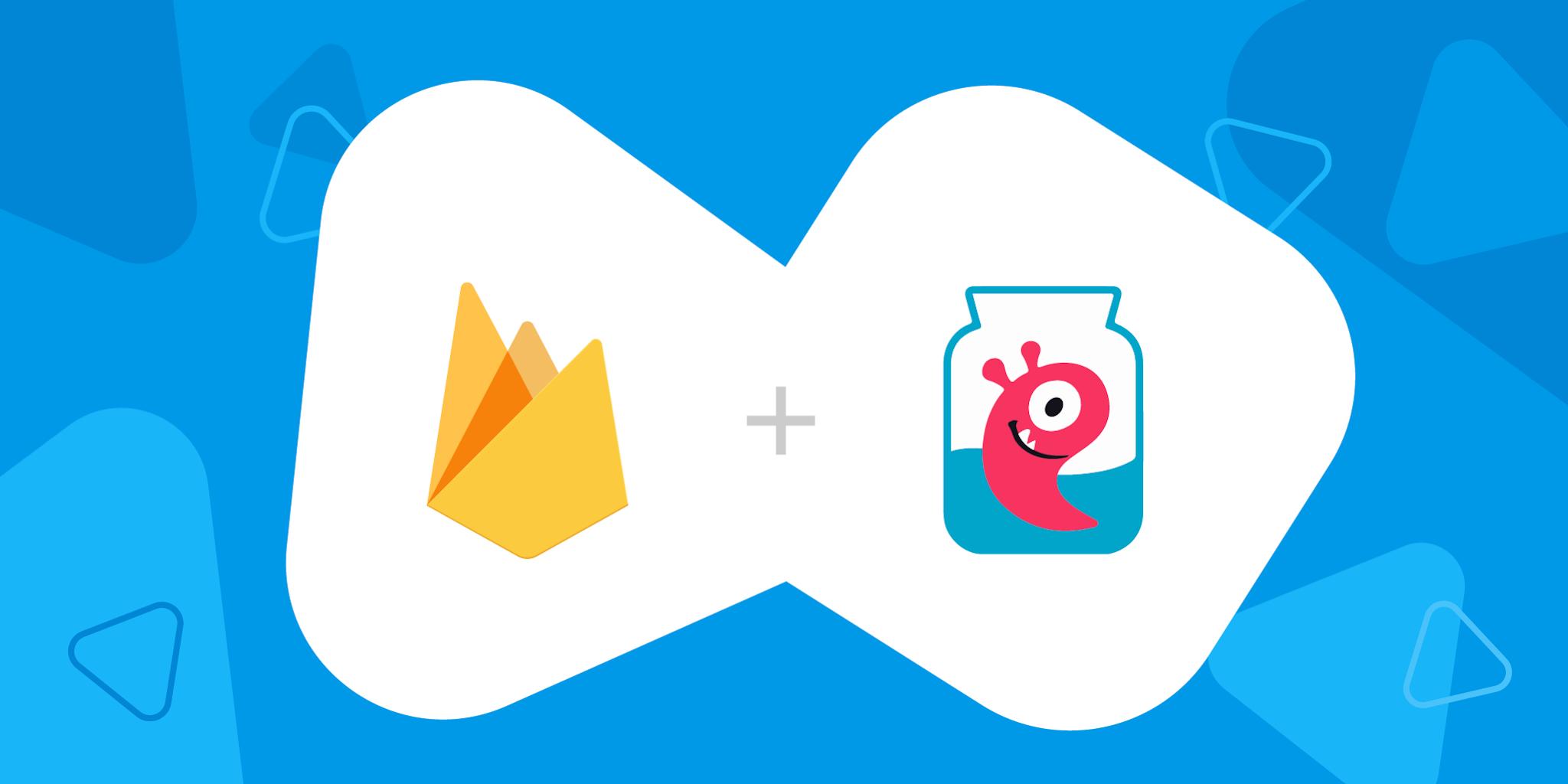 image of Firebase logo and CrazyLabs logo