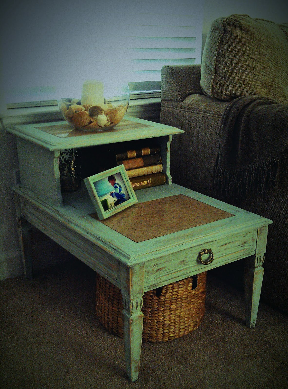 Side Table: Charmingly Shabby Designs: Charmingly Shabby Two-Tier Side