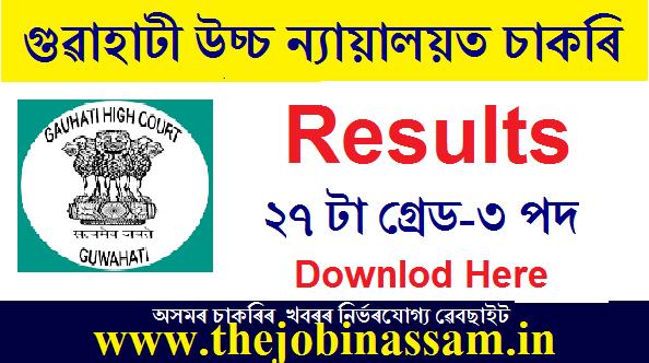 Gauhati High Court Grade III Result 2021: 27 Grade-III (AJS) Posts