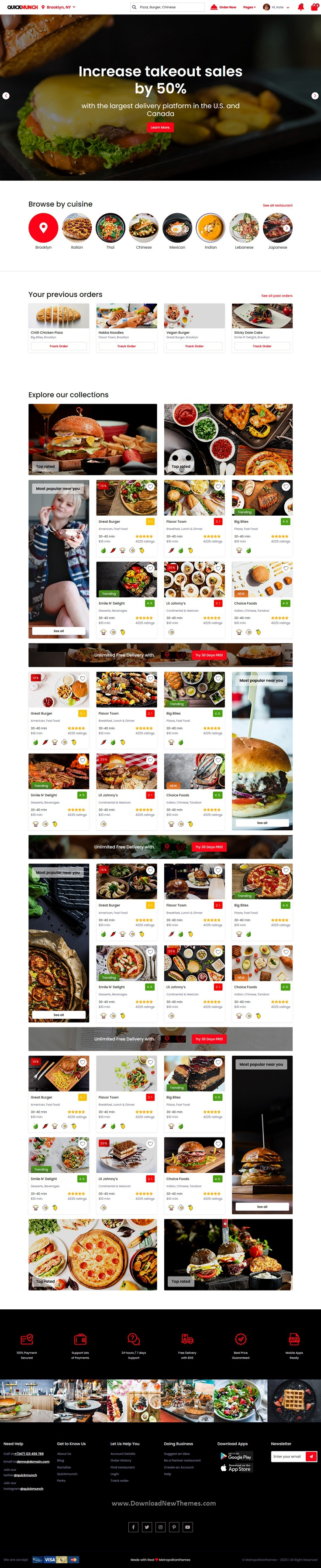 Restaurant Listing Angular Template