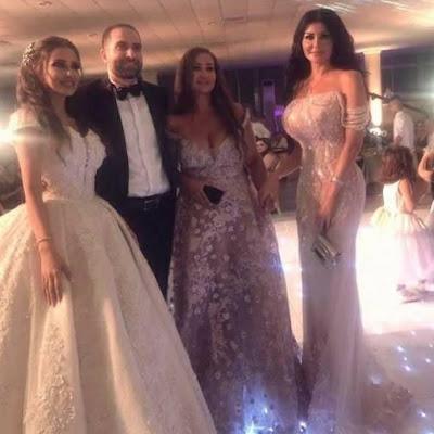 الفنانة جيني اسبر في أحد حفلات الزفاف في محافظة اللاذقية