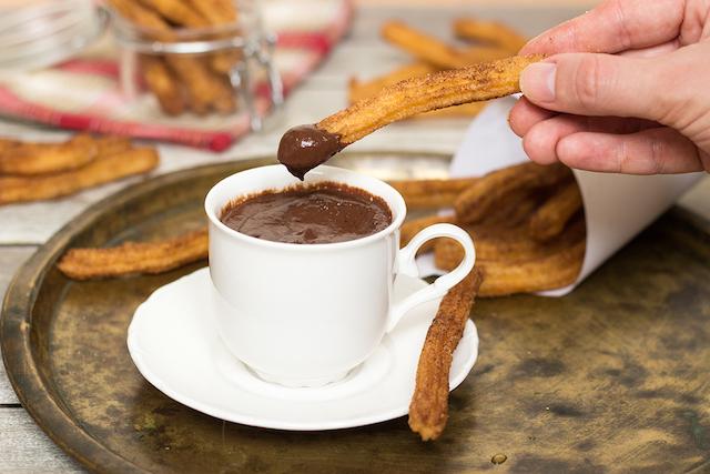 Churros com chocolate em Madri