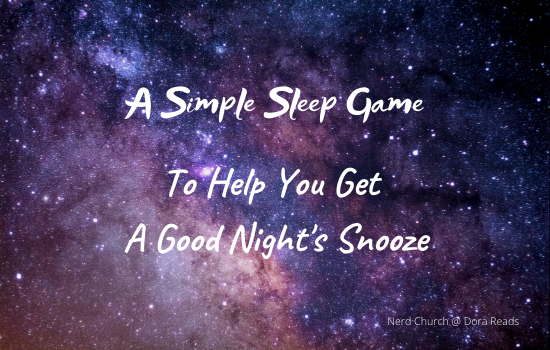 'A Simple Sleep Game To Help You Get A Good Night's Snooze' with a starry night's sky as the background