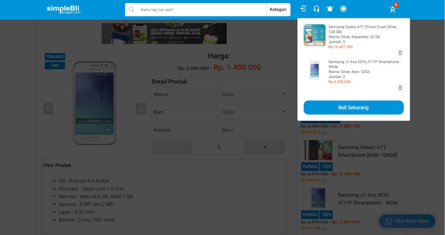 Template Jual Beli Online Platform Blogger (Blogspotcom) Harga Murah Wajib Coba