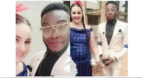Yahoo boy elated as his white fiancée is set to pay his groom price in Abia State