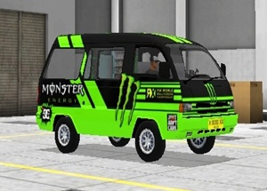 Livery Angkot Bussid Monster Energy