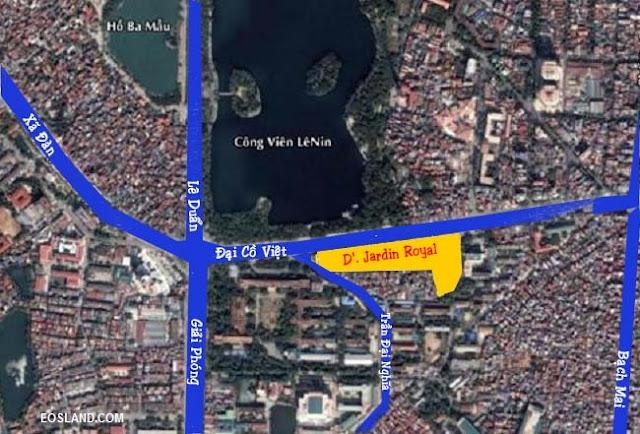 Vị trí Tân Hoàng Minh Đại Cồ Việt - D'. Jardin Royal