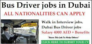 Heavy Bus Drivers Jobs Recruitment in Dubai, UAE
