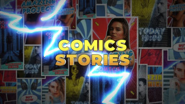 Comics Instagram Stories : After Effects Template
