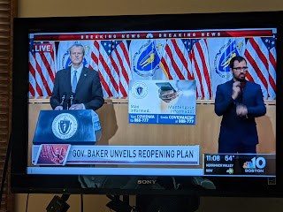 Gov Baker provides update on reopening plan