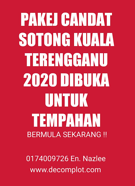 PAKEJ CANDAT SOTONG KUALA TERENGGANU 2020