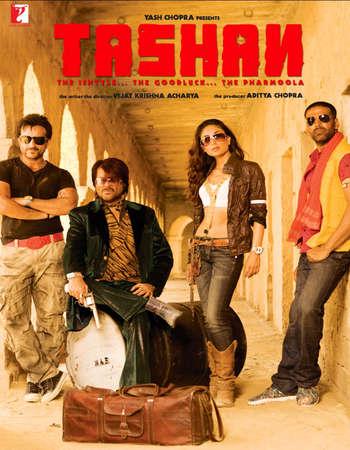 Poster Of Tashan 2008 Hindi 450MB DVDRip 720p ESubs HEVC Watch Online Free Download Worldfree4u