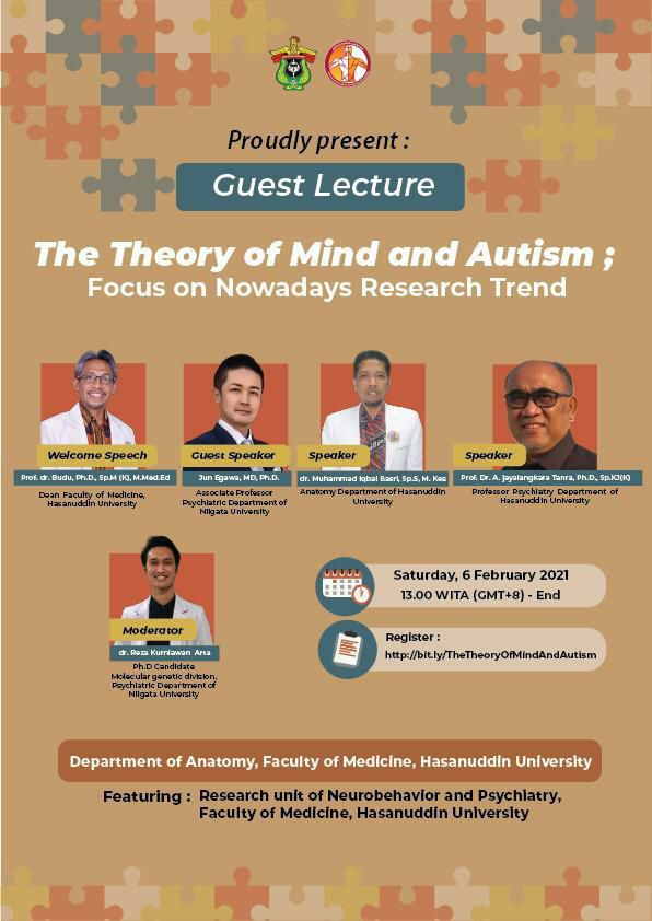 GUEST LECTURE  THE THEORY OF MIND AND AUTISM  Focus on Nowadays Research Trend