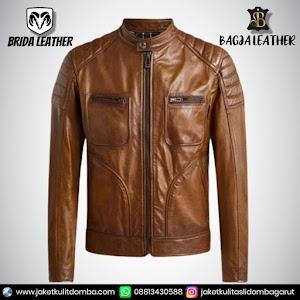 Jual Jaket Kulit Asli Garut Pria Domba Original Brida Leather B92 | WA 08813430588