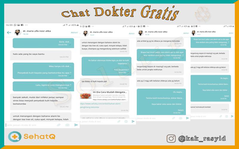 Chat dokter gratis di sehatQ