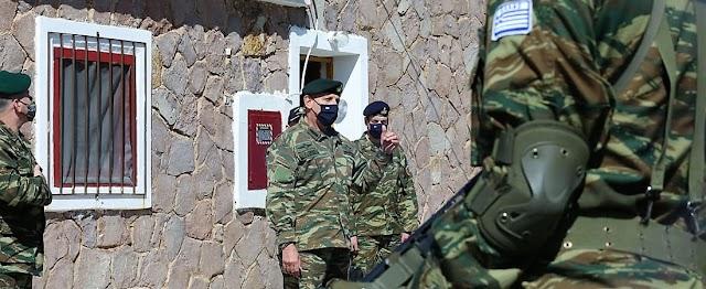 Ο Αρχηγός ΓΕΕΘΑ σε φυλάκια και μονάδες ΕΔ της 98 ΑΔΤΕ στη Λέσβο (ΦΩΤΟ)
