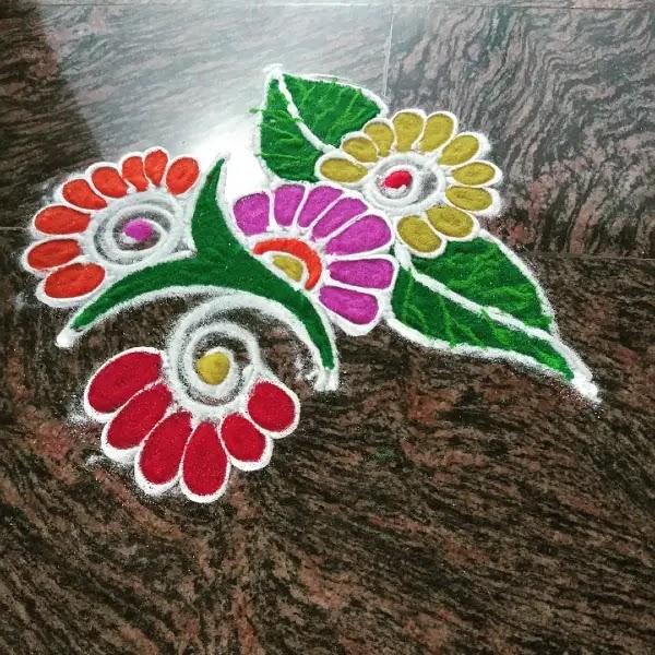 Flowers_colour_full_with_leaves_rangoli_design