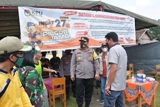 Bupati Batanghari Tinjau Lokasi PSU Pilgub Jambi Di Batanghari yang Akan Dilaksanakan Kamis 27 Mei 2021