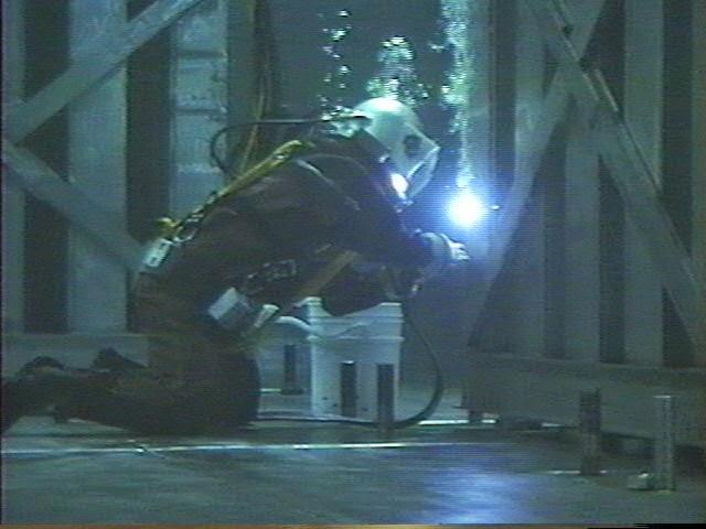 Under water welding