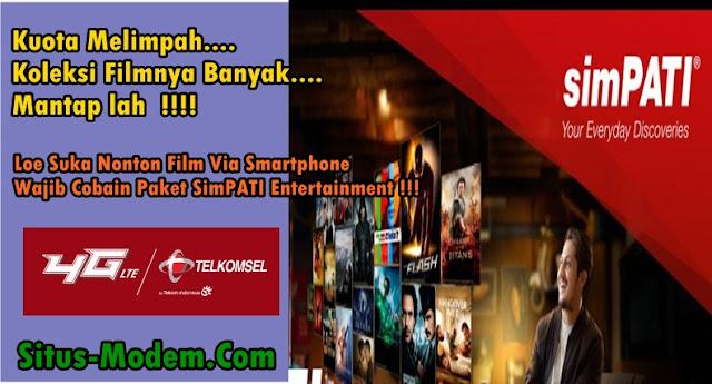 Paket Simpati Entertainment : Paket Khusus Streaming Film On-Demand Via Aplikasi HOOQ