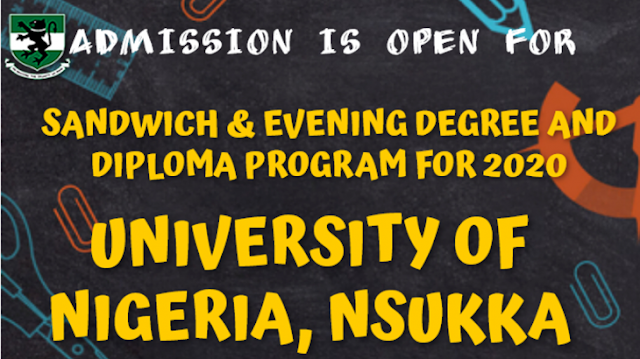 UNN Sandwich and Evening Form 2020/2021 | Degree & Diploma