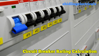 how to calculate the rating of a circuit breaker for loads.