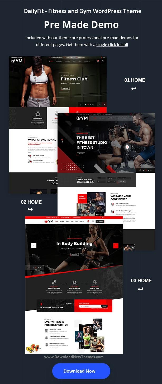 Fitness and Gym WordPress Theme