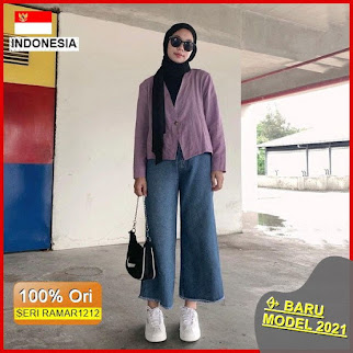 RAMAR1212 NEW SET LINEN OUTER CARDI BARU 2021