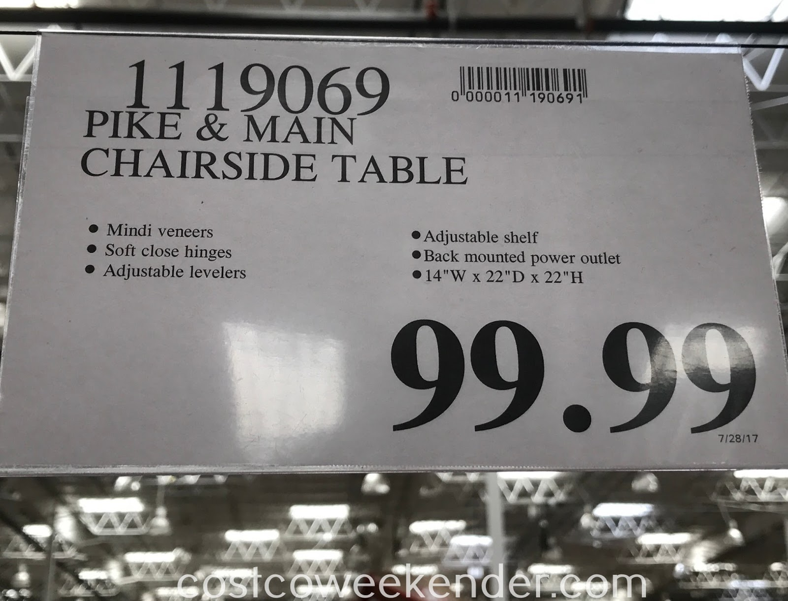 Deal for the Pike and Main Chairside Table at Costco